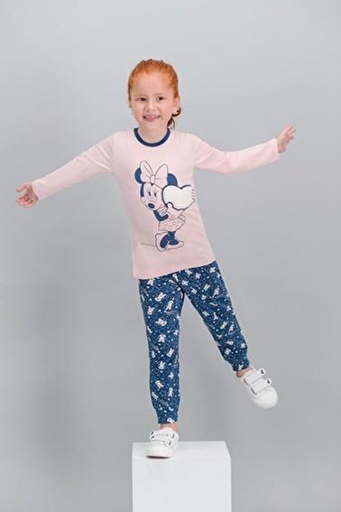 Minnie Mouse Minnie Mouse Lisanslı Karmelanj Kız Çocuk Pijama Takımı Pembe